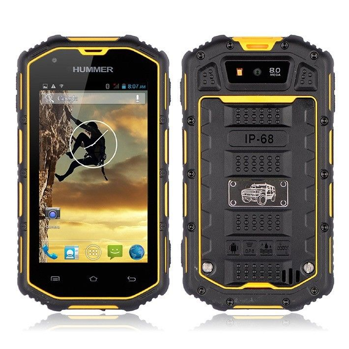 "4.0"" Hummer H5 Smartphone android 4.2 Real Waterproof mobile phone 3G GPS Capaci"