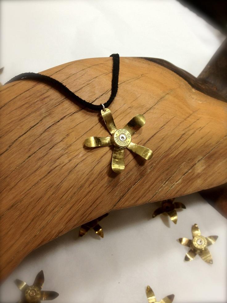 40 Caliber S Bullet Casing Necklace. $24.95, via Etsy.