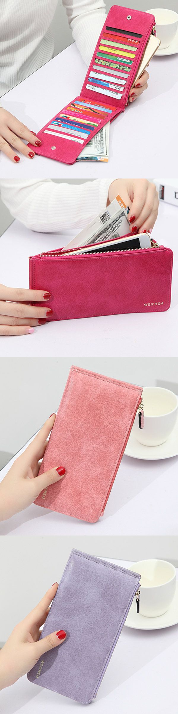 $7.99 Woman Durable PU Phone Wallet Card Bag 20 Card Slots Multi-card slots Card Wallet