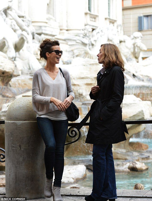 Tivoli Fountain -- Kate Beckinsale is pictured here with journalist Barbie Latza Nadeau, who she plays in the film