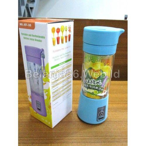 Portable Juice Blender KT-3S - 380ml Biru