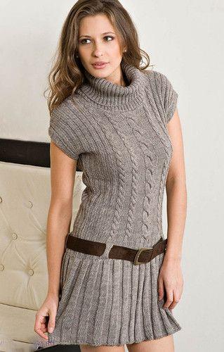Women's Hand Knitted Dress 13E by knitwearmasters.net