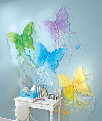 Cute for a little girls room: Kids Bedrooms, Butterflies Wall, Teens Rooms, Daughters Rooms, Girls Bedrooms, Big Girls Rooms, Bedrooms Decor, Butterflies Decor, Decor Butterflies