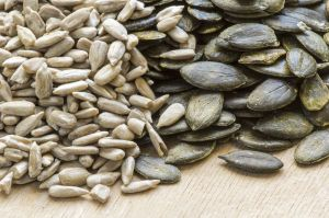 Pumpkin seeds are high in protein, antioxidants and zinc, helping to strengthen our immune system and balance sugar levels. These delicious little seeds also contain large amount of manganese, crucial for bones and thyroid function, and have been specifically linked to warding off prostate problems. The perfect manly power-snack!