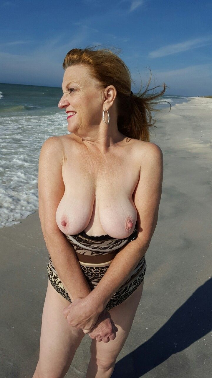 grandma flashes boobs