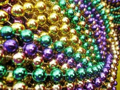 DOZEN - 12mm Mixed Mardi Gras Party Beads $5