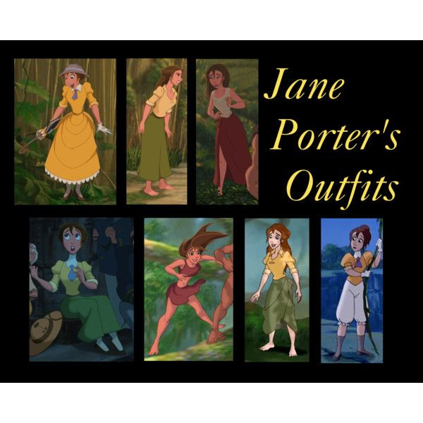 Jane Porter's Outfits by tealtigress on Polyvore featuring polyvore and art