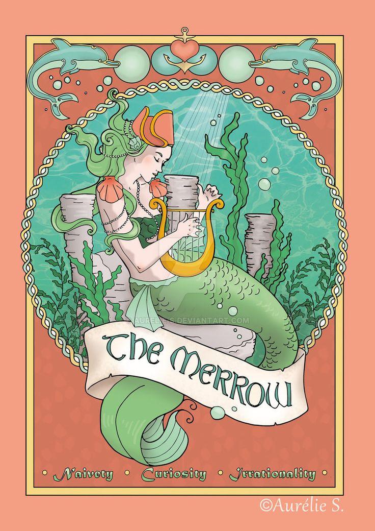 The Merrow - coloured page by Aurelie-S.deviantart.com on @DeviantArt