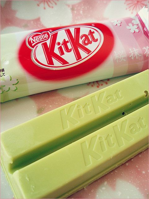 .Green Tea, Matcha Kit Kat bar, its real.. in Japan  My favorite candy in the world and I can only get my hands on it once a year in texas :(