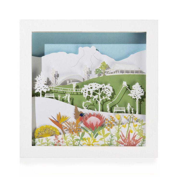 Framed Paper Sculpture: Kirstenbosch