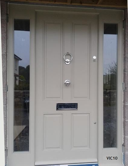 victorian door with glazed side panels