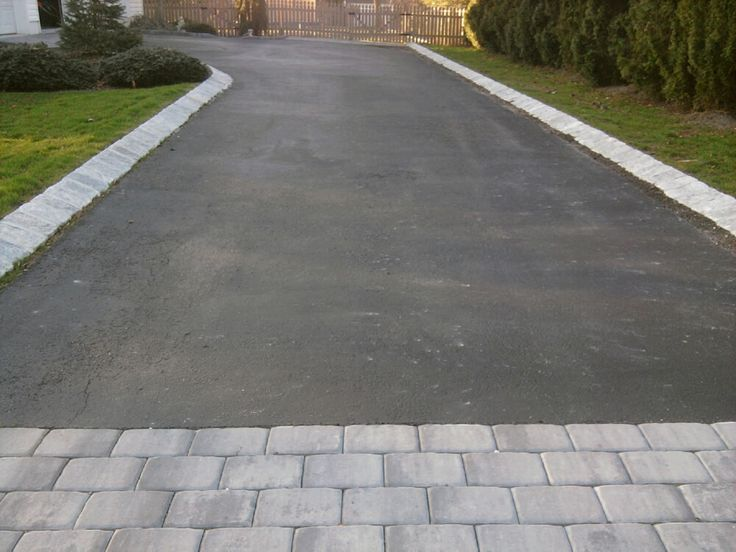 How to fill in area between asphalt driveway and paver pad solutioingenieria Gallery