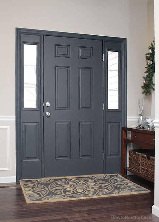 Painted Interior Front Door + GIVEAWAY - How to Nest for Less™