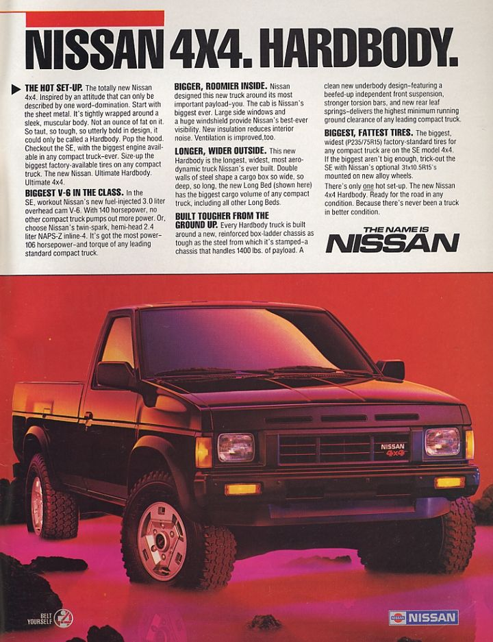 Nissan Hardbody Truck | These are probably one of my fav trucks I'm more of a car/ SUV type gal, way cooler than the faggot ass Mazda wannabe hardbodies :-)