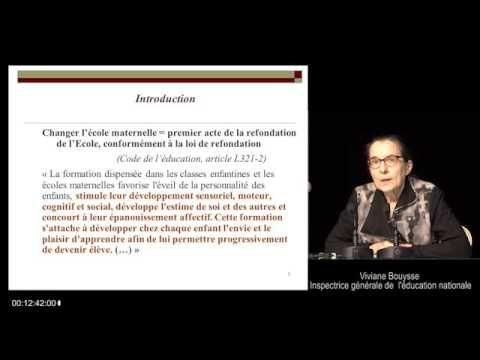 Conférence: les nouveaux programmes Vivianne Bouysse 3 octobre 2015