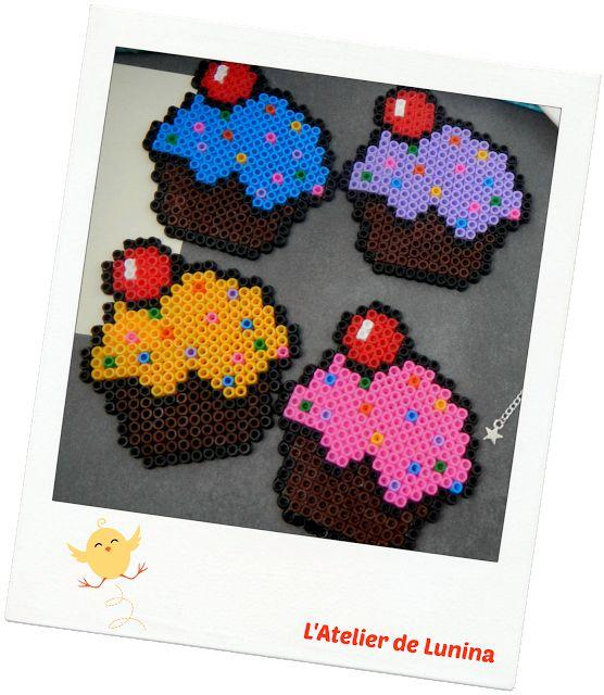 Perle Hama Cupcake dessous de verre Coaster pearl