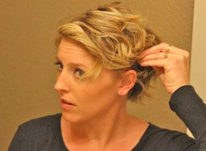 """Easy """"up-do"""" for short hair. Need this for the growing out stages."""