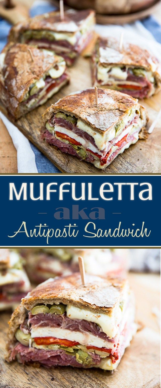 Muffuletta - aka - Antipasti Sandwich • My Evil Twin's Kitchen