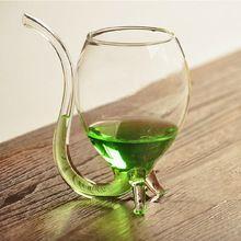 Transparant Glas Cup Rode Wijn Vruchtensap Glas Wijn Drinken Buis Stro Nieuwigheid Mode Gepersonaliseerde Verjaardagscadeau(China (Mainland))