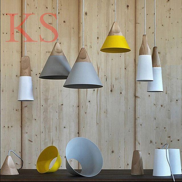Подвесные светильники современные лампы древесины и алюминия лампы кафе столовая из светодиодов висячие светильники