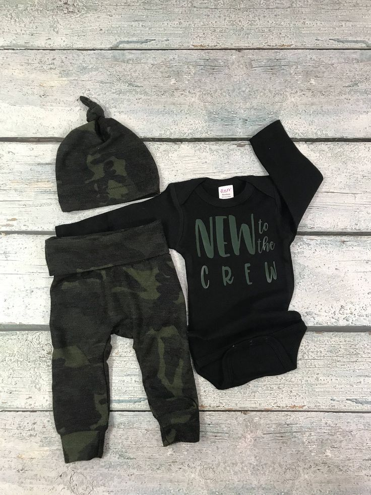 baby boy coming home outfit/ boy camo set/new to the crew outfit for boy by bibitibobitiboutique on Etsy https://www.etsy.com/listing/568259620/baby-boy-coming-home-outfit-boy-camo #babyboyoutfits