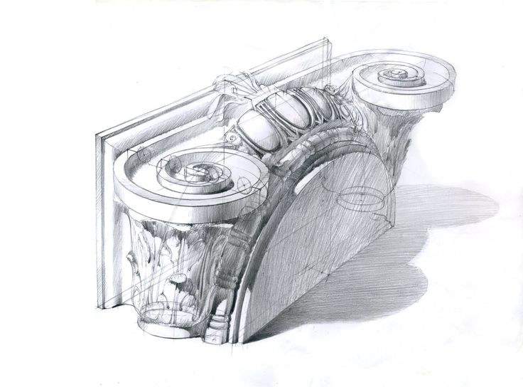 Michal Suffczynski     pencil study,ionic order,40/30 cm