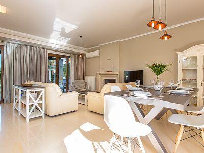 Rethymno villa rental - Villa Marina features 3 bedrooms and 2 bathrooms in its two floors!