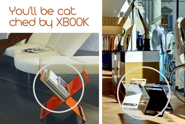 XBOOK: clever aluminium magazine rack. The form created by joining two suitably shaped and folded elements creates an extremely refined #furnishing accessory. Dimension: dm cm 40 x 28 cm x h 40 cm. Weight: 3,5 kg. Designer: IS http://bit.ly/1AjxtFi #books #design #colors #models #magazines