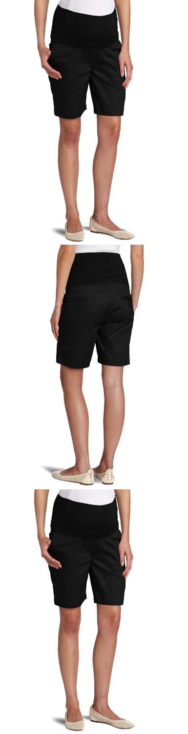 Ripe Maternity Women's Maternity Classic Twill Shorts, Black, Medium