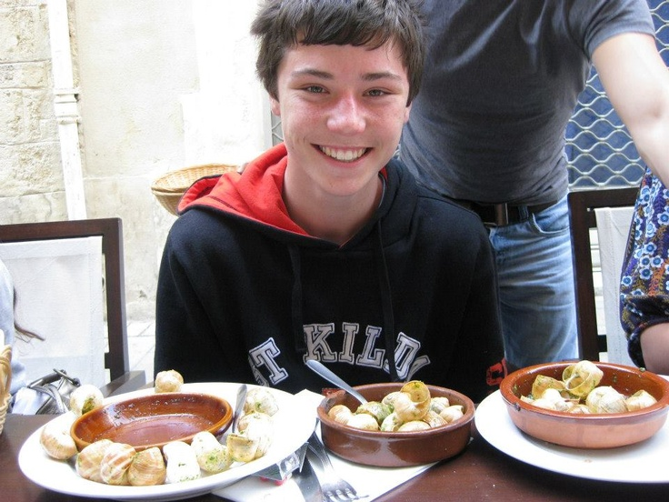 France 2008 school trip. Everyone who didn't finish their escargots gave them to me