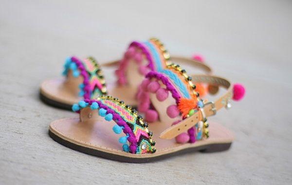 Greek leather Sandals Purple - Δερμάτινα Σανδάλια, Γυναικεία | UN1QUE