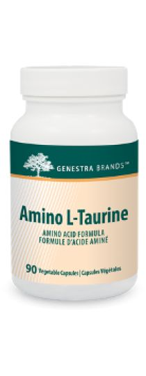 Amino L-Taurine by #Genestra provides this non-essential amino acid to help support #cardiovascular #health. The capsules are 100% pure vegetable-sourced.