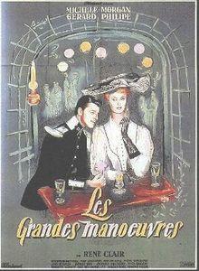 Les Grandes Manœuvres est un film français réalisé par René Clair, sorti en 1955. En province, vers 1913, Armand de La Verne, lieutenant au 33e Dragon et véritable Don Juan, tient le pari de devenir l'amant d'une femme que le hasard désignera. Marie-Louise Rivière, belle jeune femme arrivée depuis peu de Paris pour ouvrir une boutique de modiste est « l'heureuse » élue, ignorant le pari dont elle est l'objet.