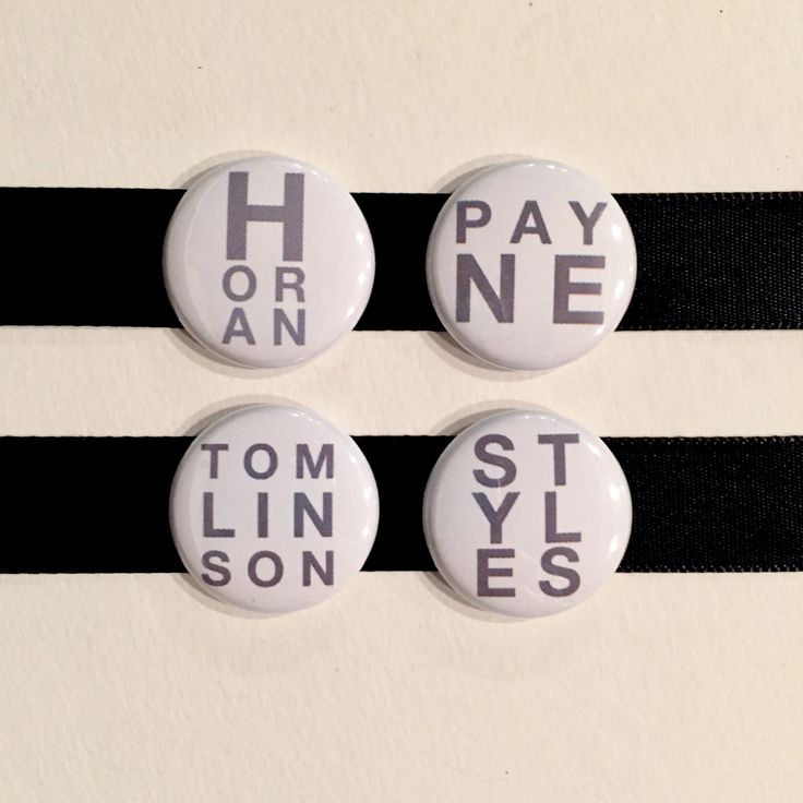 Set of 4 One Direction Pins Fandom Pinback Buttons | 1 Inch Buttons | Fan Gift | 1D Pin Badges by bymissrose on Etsy