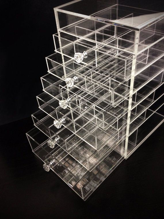 Best Acrylic Design Images On Pinterest Computers Custom - Acrylic cube makeup organizer with drawers