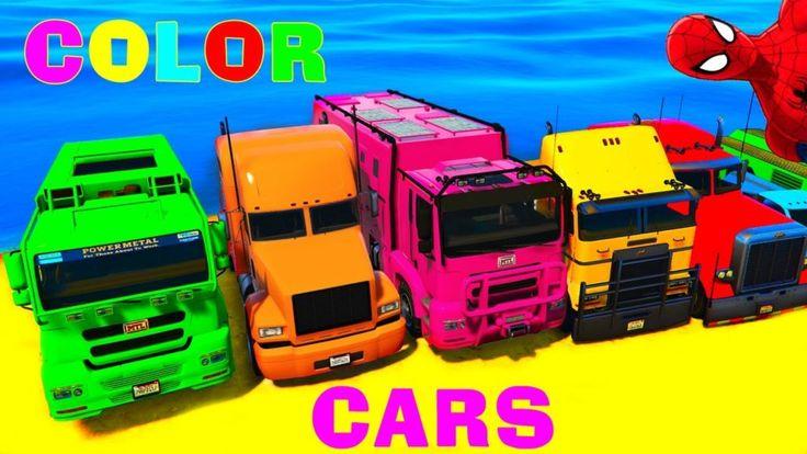 Trucks and COLOR CARS for Kids in Spiderman Cartoon Funny Videos for Children and Nursery Rhymes  https://www.youtube.com/channel/UC76YOQIJa6Gej0_FuhRQxJg
