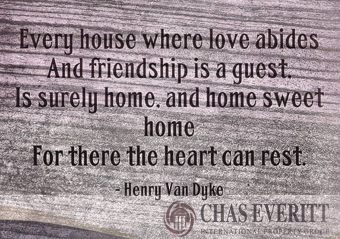 Chas Everitt Weekly Inspirational Message: Home Sweet Home http://www.chaseveritt.co.za