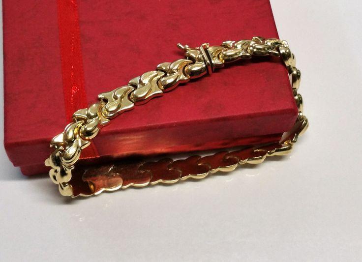 Vintage Armschmuck - Armband Gliederarmband Gold 585 edel selten GA108 - ein Designerstück von Atelier-Regina bei DaWanda