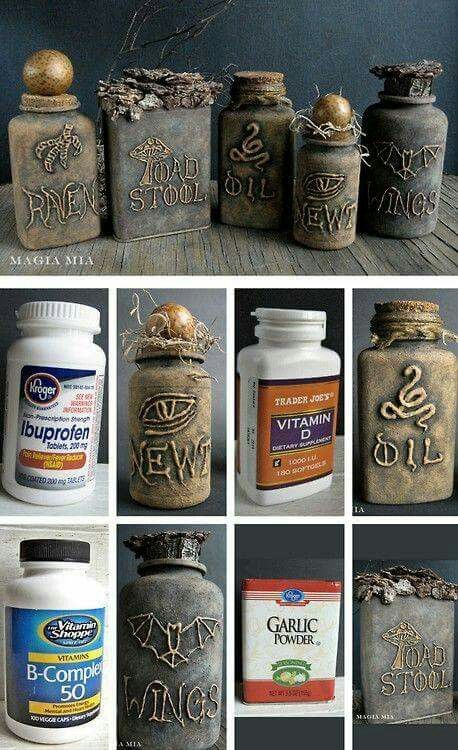 I bet this tutorial could be useful for turning regular pill bottles into cool vintage apothecary ones