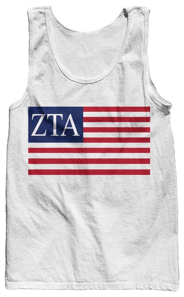 Zeta Tau Alpha USA Tank Top