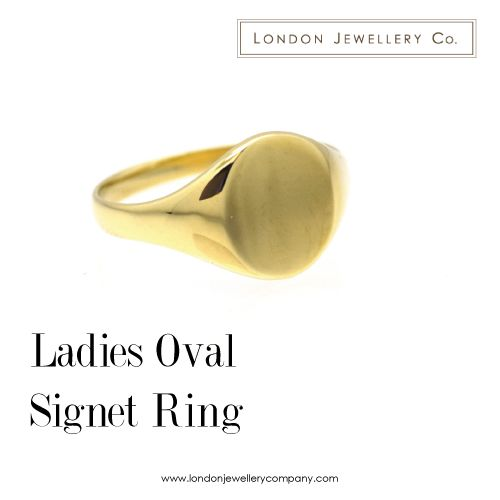 Ladies #Signet #Ring in Yellow #Gold - #London #Jewellery Company