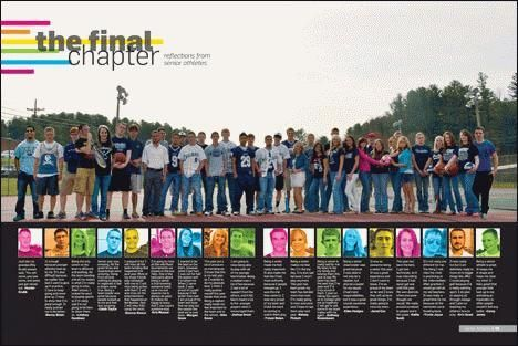 "A ""senior thanks"" type spread we can use in every yearbook??? It allows coverage of 18 students...."