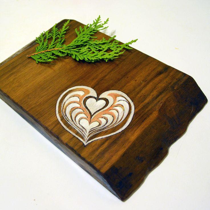 Walnut Cutting Board! Coffee heart illustration https://www.etsy.com/listing/216455727/walnut-cutting-board-wooden-cutting?ref=shop_home_active_4