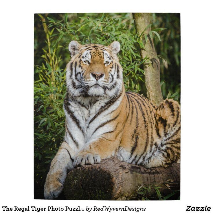 The Regal Tiger Photo Puzzle with Gift Box | Zazzle.com