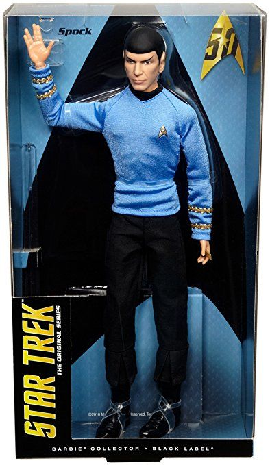 Mattel Barbie DGW68 Star Trek 25th Anniversary Mr. Spock, Puppen