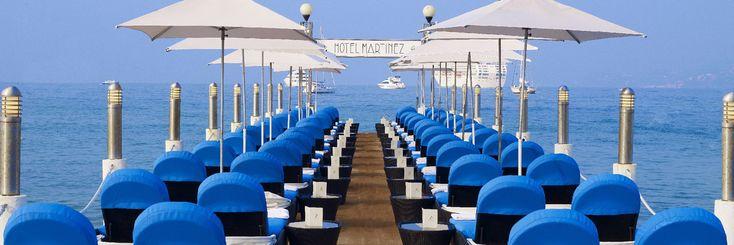 Most unique sun bed set-up: Grand Hyatt Cannes Martinez
