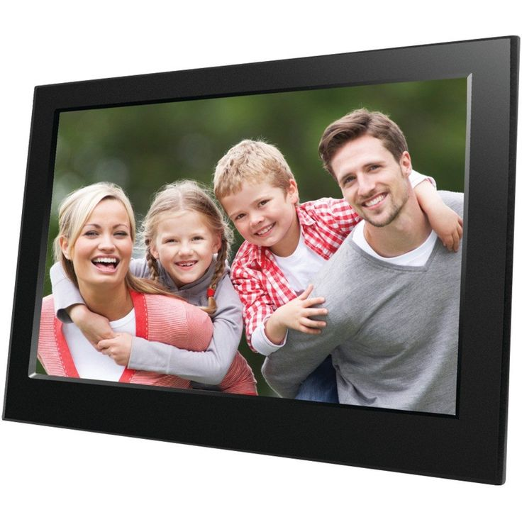 JPEG file format Auto slideshow when inserting memory card Built-in clock & calendar with slideshow window Supports slideshow in split screen or 1 2 3 or 4 windows Built-in 8-bits flash memory support