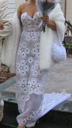Шикарный свадебный наряд крючком. Обсуждение на LiveInternet - Российский Сервис Онлайн-Дневников