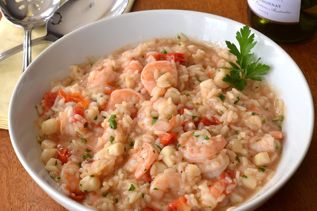 Seafood Risotto | Anything but Sweet | Pinterest