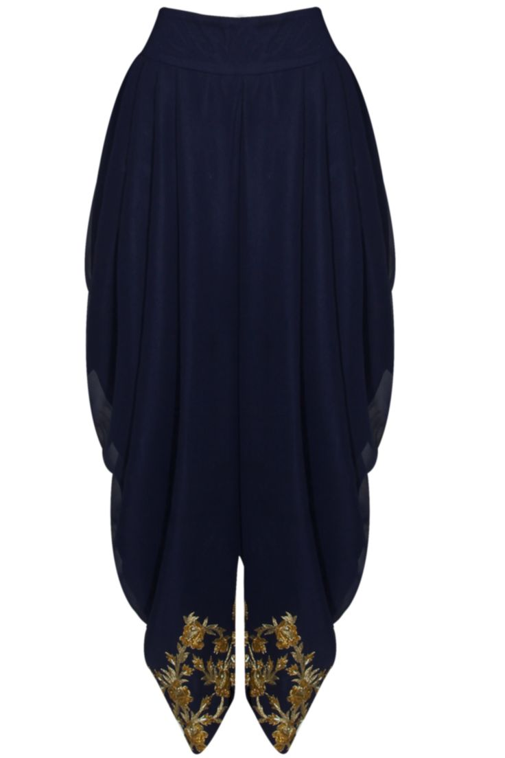 SVA Midnight blue floral embroidered jacket | Pernia's Pop-Up Shop.